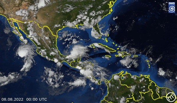 Satellite Image Central America