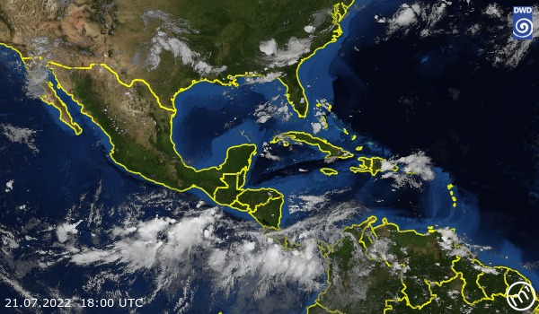 Satellitenbild Central America