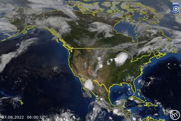 Satellite Image North America