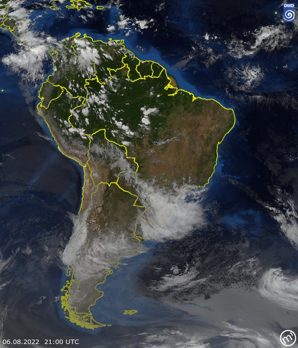 Satellite Image South America