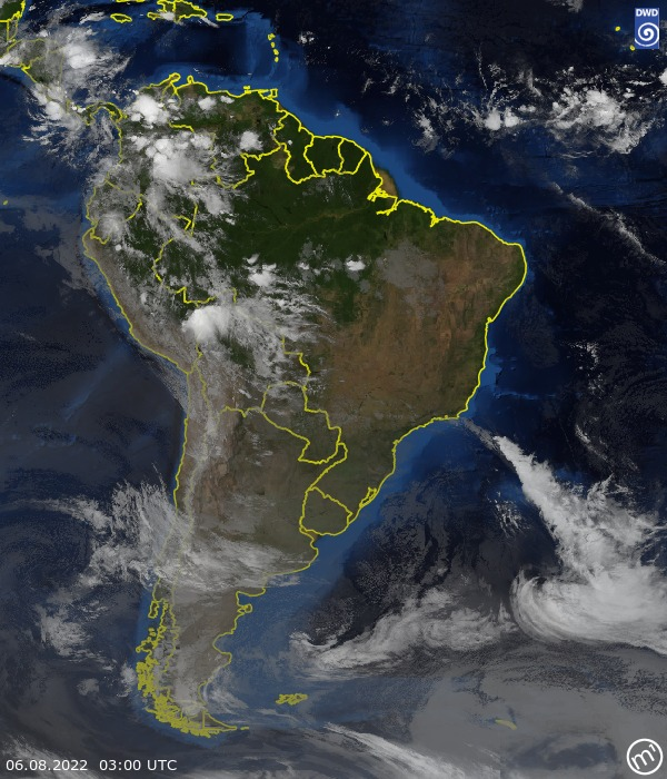 Satellitenbild South America