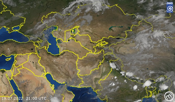 Satellite Image Central Asia