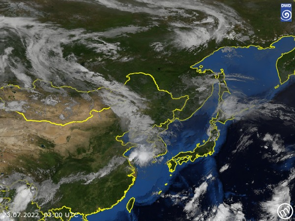 Satellite Image East Asia