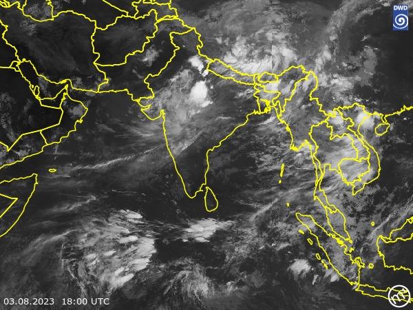 Satellitenbild South Asia