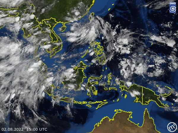 Satellite Image Southeast Asia