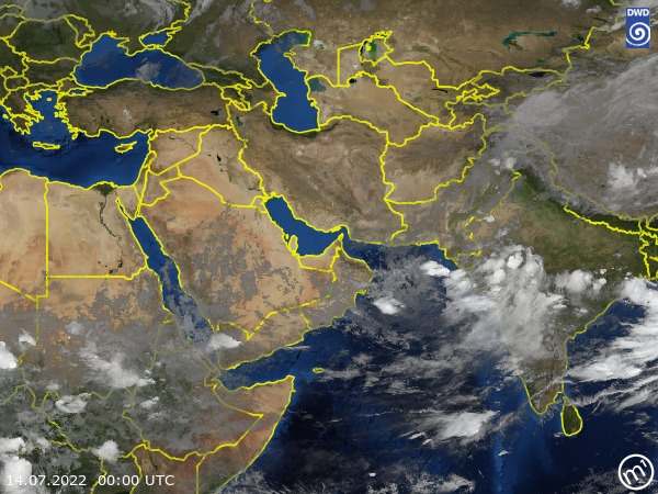 Satellite Image West Asia