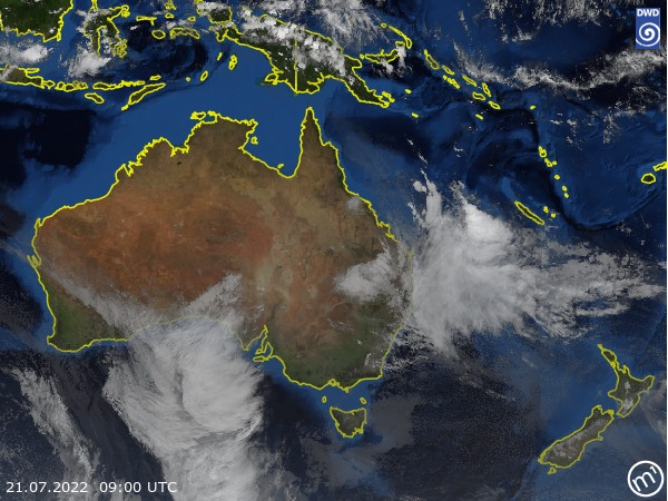 Satellite Image Australia