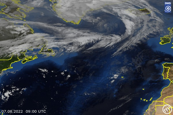 Satellite Image North Atlantic