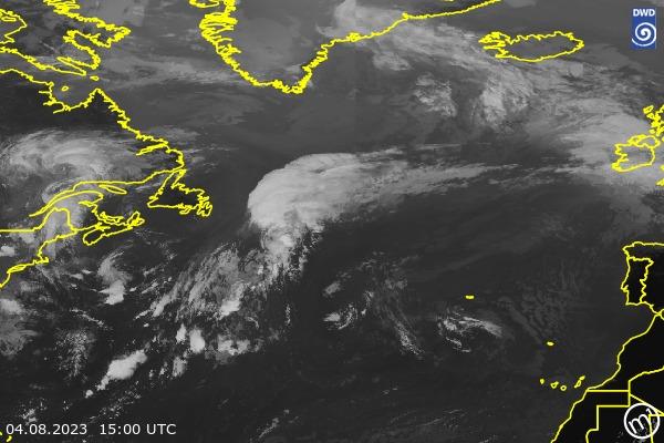 Satellitenbild North Atlantic