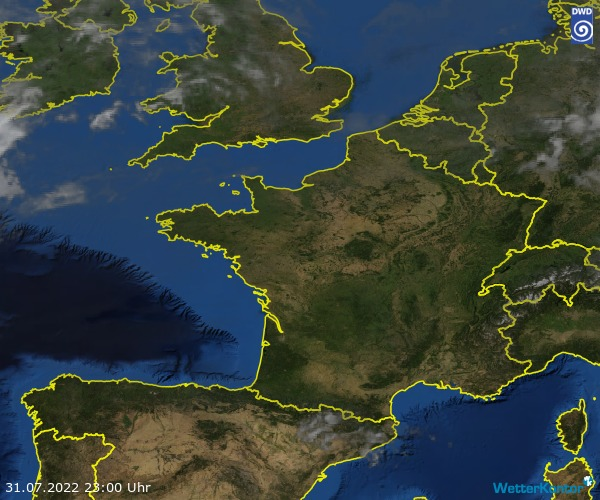 Satellitenbild der Region