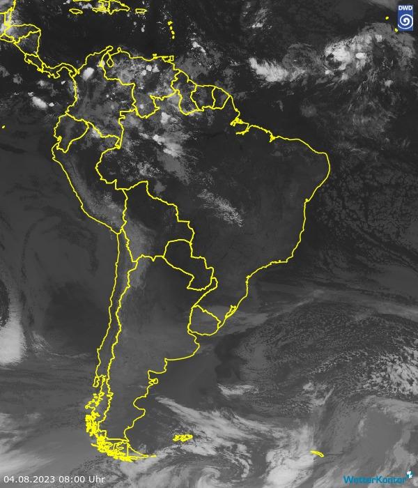 Satellitenbild Südamerika