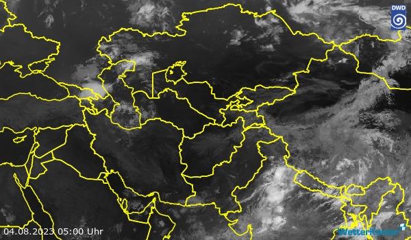 Satellitenbild Zentralasien