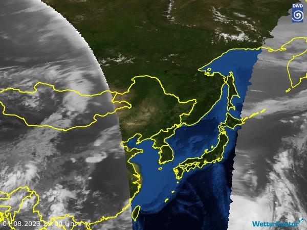 Satellitenbild Ostasien