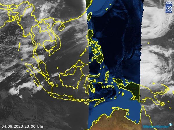 Satellitenbild Südostasien