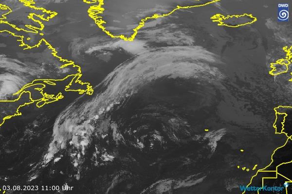 Satellitenbild Nordatlantik