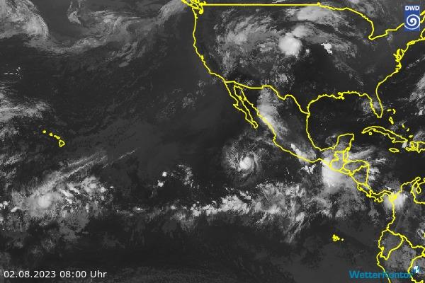Satellitenbild Ostpazifik