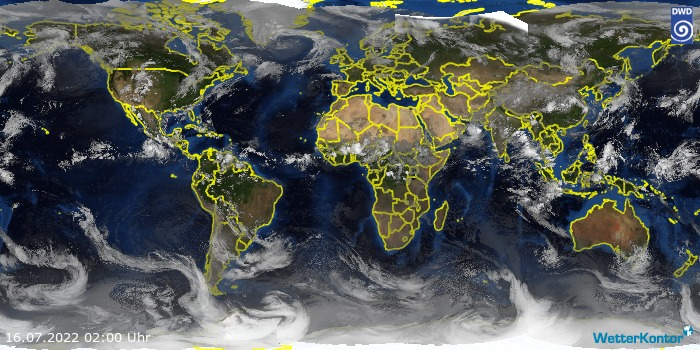Satellitenbild Welt